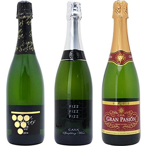 すべて本格シャンパン製法の泡3本セット((W0GR16SE))(750mlx3本ワインセット)≪第98弾≫