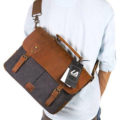 Langforth-Leather-Vintage-Canvas-Laptop-Bag-13Lx105H-x-41W-Grey