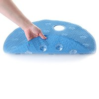 Comfort Foam Shower Mat with Offset Drain Hole - Blue ...