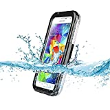 Kuteck® Waterproof Shockproof Shock Proof Snow Proof SnowProof DirtProof Dirt Proof Durable Case Cover for Samsung Galaxy S3 I9300 S4 I9500 - Black. Include Touch Screen Stylus.