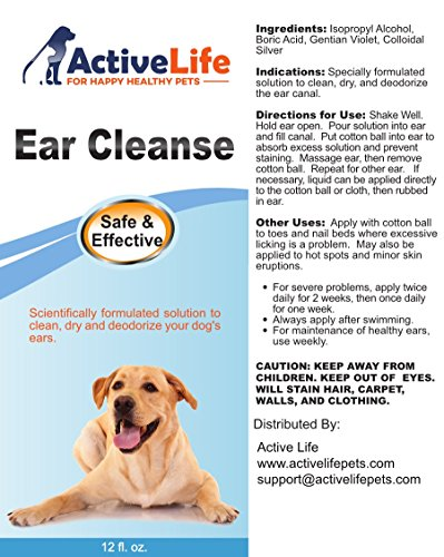 #1 Dog Ear Infection Treatment - 12oz Ear Cleanse Liquid ...