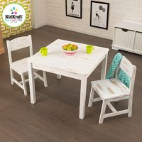 KidKraft Aspen Table and 2-Chair Set-Distressed Furniture ...