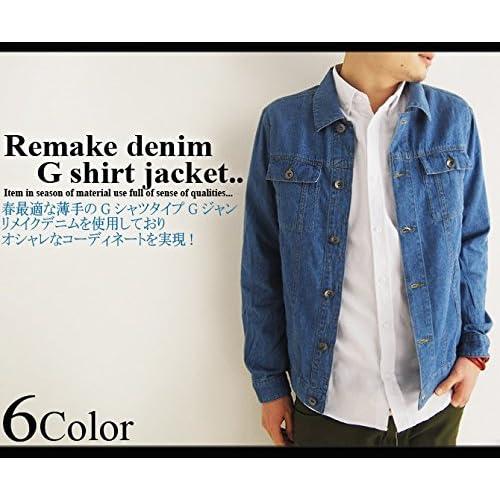 (アーケード) ARCADE 2color メンズ 春 Gジャン ジージャン デニムジャケット リメイクデニム M ブルー