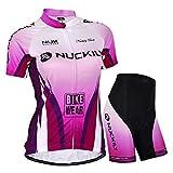 Sponeed Women's Cycling Jerseys Swirl Bicycling Jersey Size XL US Purple