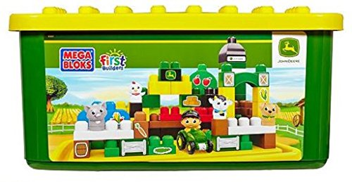 Mega Bloks First Builders John Deere Big Barnyard Building Set