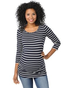 Motherhood-Striped-Side-Ruched-Maternity-Top