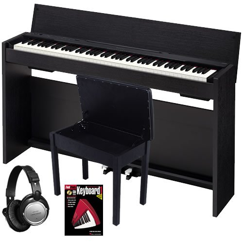 Casio Privia PX830 Digital Piano BUNDLE with Bench, Headphones, and Book
