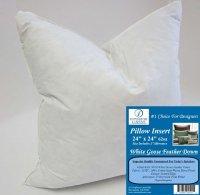24 x 24 62oz. Pillow Insert: 9010 White Goose Feather Down ...