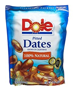 Amazoncom Dole Dates Pitted 8Ounce Bags Pack of 12