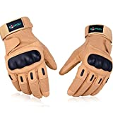 VOROSY Full Finger/ Half Finger Fingerless Military Army Tactical Gloves, Hunting Gloves, Airsoft Gloves, Cycling Gloves Used for Combat Sports Outdoor Hiking Camping Climbing Motorcycle/Bicycle/Bike Riding Airsoft Shooting (Knuckle Protection, Breathable Material,Adjustable Design, 1-Year Warranty)