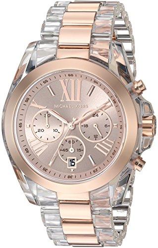 s bradshaw rose gold-tone watch mk6358,michael kors women,video review,(VIDEO Review) Michael Kors Women's Bradshaw Rose Gold-Tone Watch MK6358,