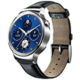 Huawei W1 Stainless Steel Classic Smartwatch with Genuine Leather Strap Silver I