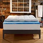 Sleep Innovations 4-Inch Dual Layer Mattress Topper - Gel Memory Foam and Plush Fiber