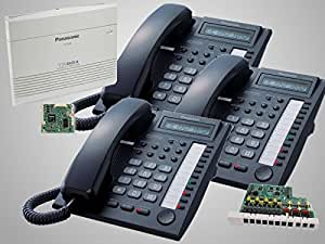 Amazon.com : 3 Panasonic KX-T7730 Black Phones + Panasonic KX-TA824 Phone System with KX-TA82483 3x8 Expansion and KX-TA82493 Caller ID Card ...