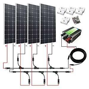 Amazon.com : ECO-WORTHY 600W Monocrystalline 12v 24v Off