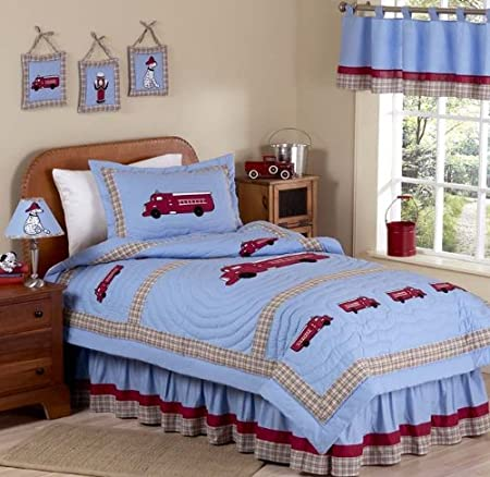 Frankie's Fire Truck Childrens Bedding 3pc