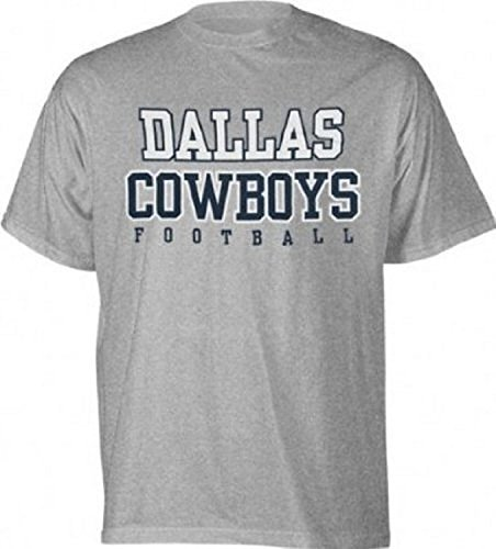 NFL Dallas Cowboys Grey Football Practice T-Shirt Mens Large