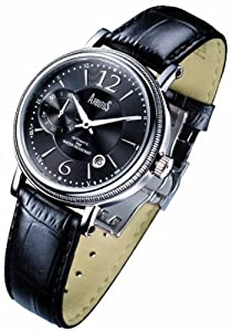 Arbutus Men's Automatic Watch with Black Dial Analogue Display and Black Leather Strap AR503SBB: Amazon.co.uk: Watches