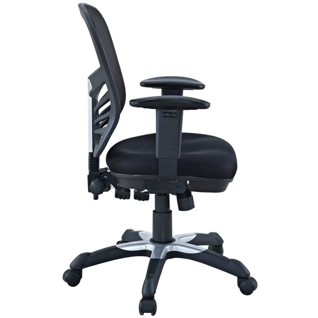 ergonomic office chair amazon dining room cover lexmod articulate black mesh