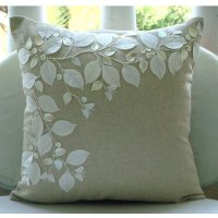 Revews Linen Beauty - 24x24 Inches Large Throw Pillow ...
