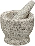 Cilio Solomon Granite Mortar and Pestle, White, 3.75-Inch by 3.5-Inch Diameter
