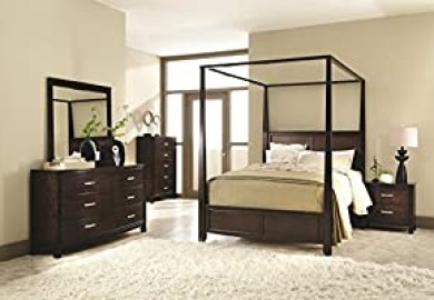 Amazon Wood Canopy Beds Home Kitchen