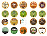 Crazy Cups Decaf Gift Sampler, Single-cup coffee pack sampler for Keurig K-Cup Brewers (Pack of 20)