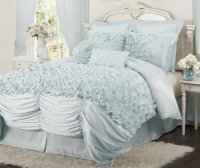 Blue Ruffle Bedding Sets