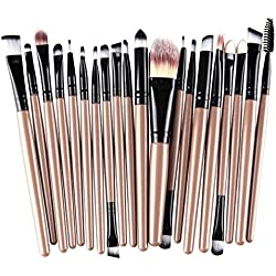 Vovotrade®Perfekt 20 Stück Make-up Pinsel Make-up-Tools Toiletry Kit Wolle bilden Bürsten-Satz(Gold)