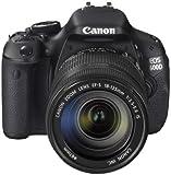 Canon EOS 600D SLR-Digitalkamera (18 Megapixel, 7,6 cm (3 Zoll) schwenkbares Display, Full HD) Kit inkl. EF-S 18-135mm 1