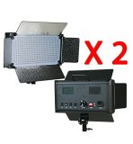 ePhotoInc-2-x-500-LED-Light-Panels-Photography-Video-Studio-Lighting-Panel-with-Filters-and-Dimmer-Switch-500SDx2