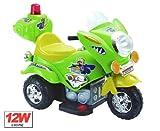 Elektro Auto Polizei Motorrad Scooter Kinderfahrzeug Elektromotorrad Blau