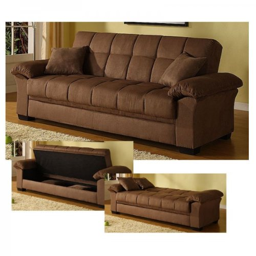 Best Priced Sofas: Sage Serta Dream Convertible Sofa In Umber