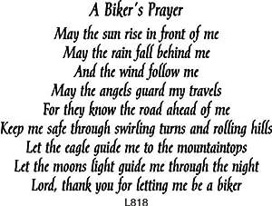 Amazon.com: Biker's Prayer Rubber Stamp By DRS Designs