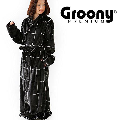 着る毛布 グルーニー Groony 2016ver プレミアム 限定デザイン シルキータッチ ミドル グラフブラック