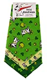 """BANDANAS UNLIMITED Tie on Triangle St. Patrick's Day Bandanas for Large Dogs (3 Pack), 29"""""""