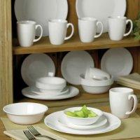 corelle livingware winter frost white 30-piece dinnerware ...