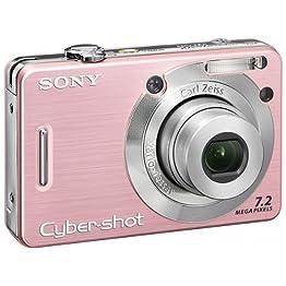 Sony 7.2MP Digital Still Camera - Pink (DSCW55)