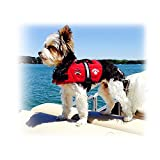 Paws Aboard Red Neoprene Life Jacket, Dog or Cat Life Preserver (XXSmall 2-6 Lbs)
