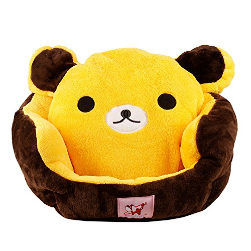 Design-New Color Cute Cozy Soft Warm Bear Winnie Pet Bed for Dog Puppy Cat