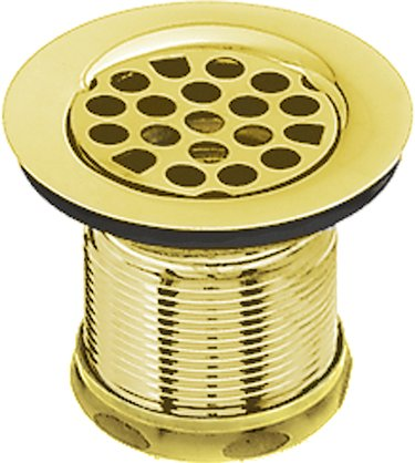 Polished Brass 2 Sink Drain Opening Bar Grid Strainer
