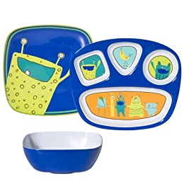 Product Image Monster Melamine Kids Dining Set of 6