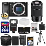 Sony-Alpha-A6000-Wi-Fi-Digital-Camera-Body-with-55-210mm-Lens-64GB-Card-Flash-Case-Tripod-Battery-Charger-Kit
