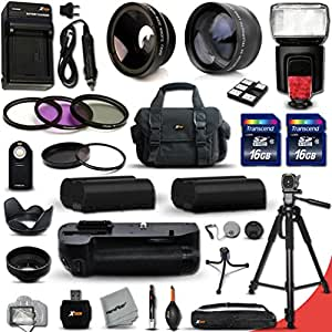 Buy Mega Pro 34 Piece Accessory Kit for Nikon D7100 DSLR Camera Includes High Definition 2X