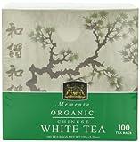 Ceylon Tea, Organic Chinese White Tea Mementa , 100-Count Tea Bags (Pack of 2) (Package may vary)