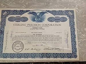 Amazon.com : STERLING PRECISION CORPORATION STOCK ...