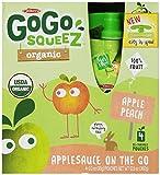 GoGo squeeZ Organic - Apple Peach - 3.2oz, 4 pk (Case of 12)