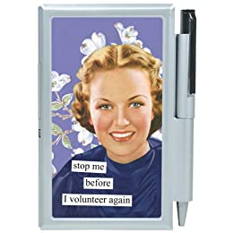 """Product Image Anne Taintor Note Case - """"Volunteer"""""""