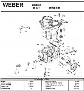 Amazon.com: WEBER 34 ICT REPLACEMENT CARBURETOR: Home