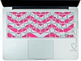 Kuzy - Pink Chevron Zig-Zag Keyboard Cover for MacBook Pro 13